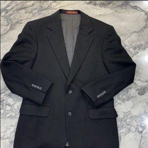 Suit Jacket - Black Camel Hair